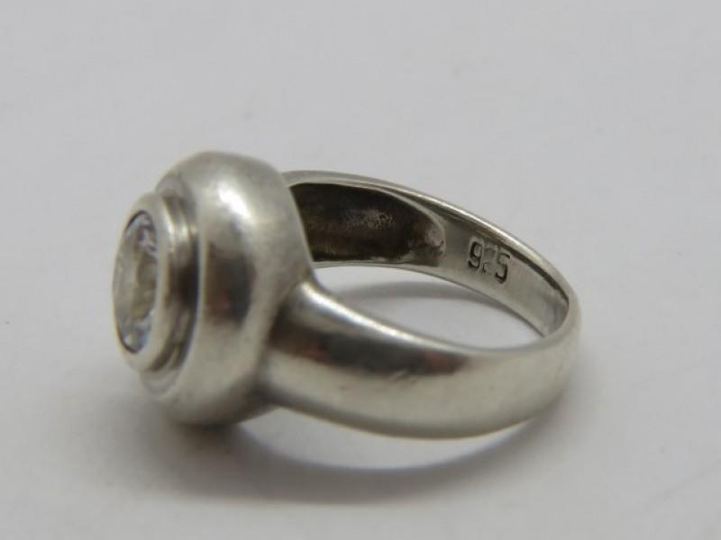 Zilveren ring 925 met zirkoon