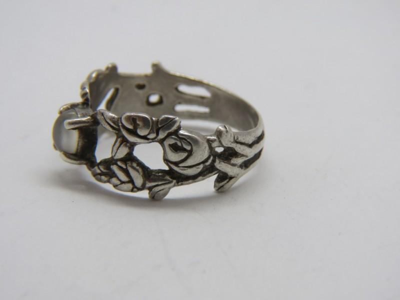 Zilveren ring 925 met onyx