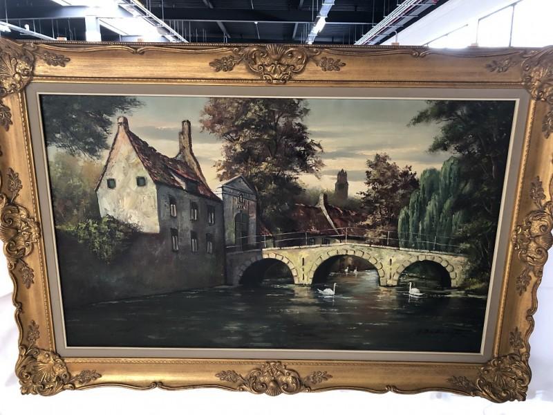 Groot Schilderij A. De Beuf - Minnewater