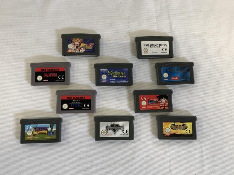 Game Boy Advance spelletjes - 10 stuks