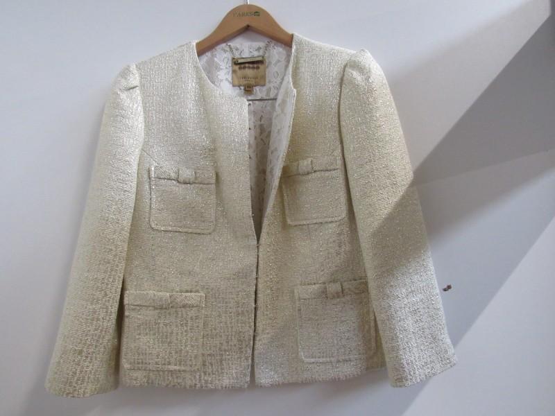 Ted Baker goudkleurige dames jas