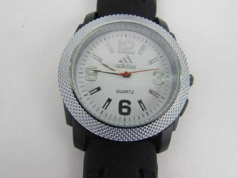 Horloge, Adidas, Wit en Zilverkleurig, Groot
