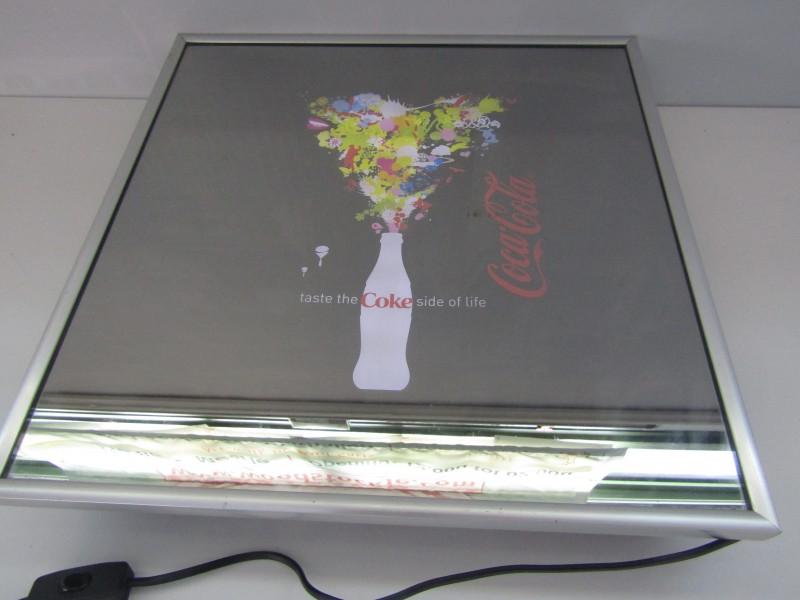 Spiegel/Lichtbak Reclame Coca Cola