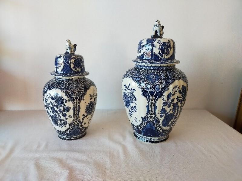 2 Delfts blauwen vazen van BOCH