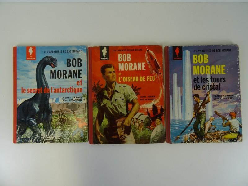 Vernes-Attanasio: 3 x Bob Morane Marabout nrs 1,2,3  1960 - 1962 Frans