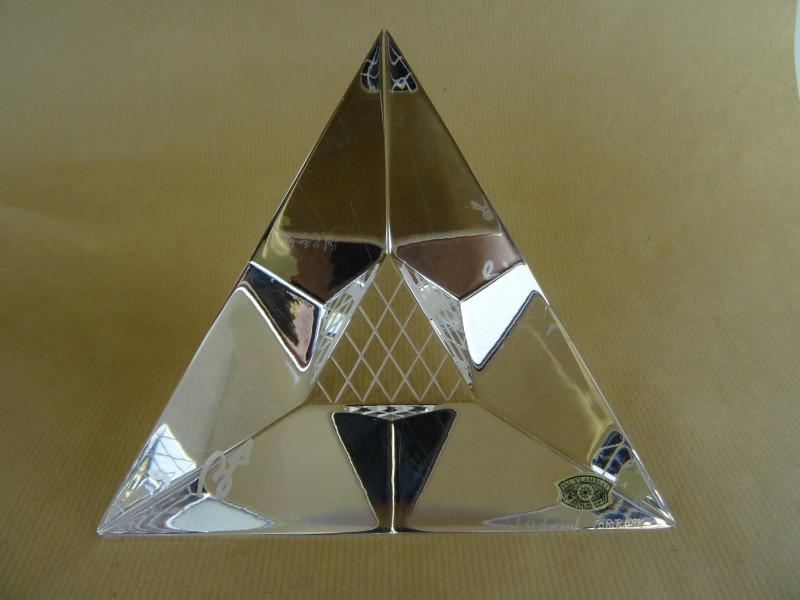 """Pyramide de Louvre"" by Zorichak for Val St Lambert"