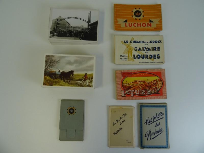 1100 gram aan vintage prentbriefkaarten  en chromo's