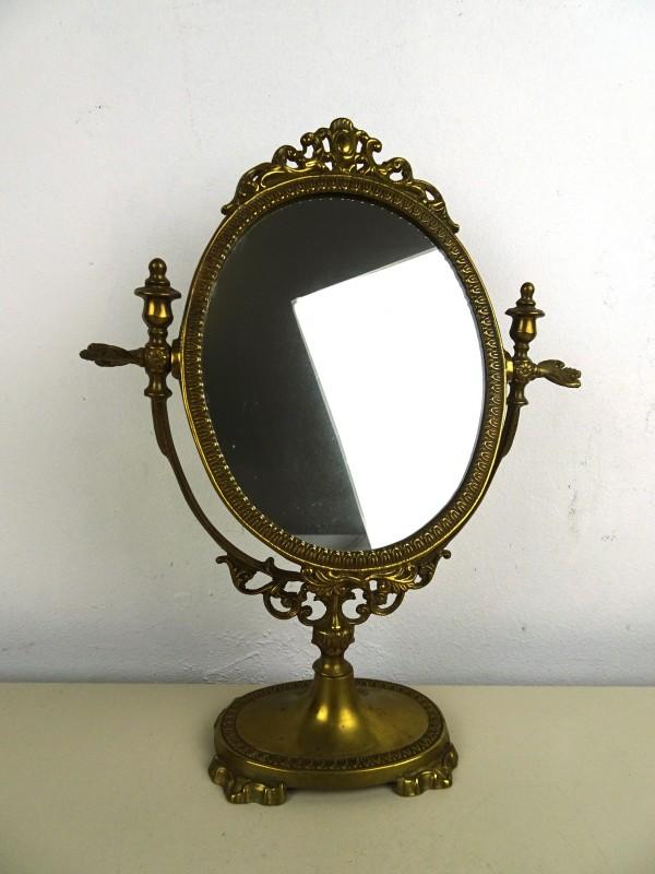 Vintage koperen spiegel