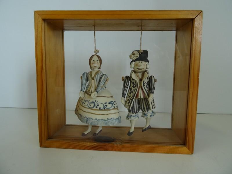 Vintage Porseleinen Hangpoppen
