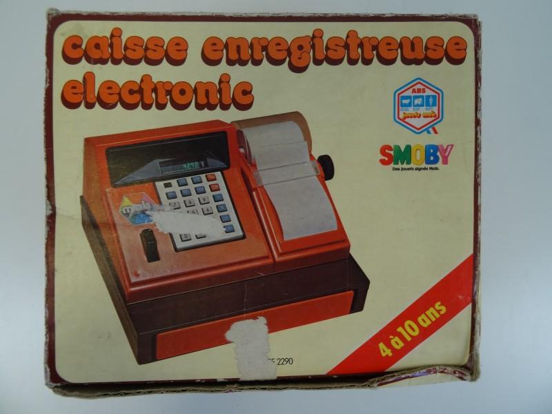 Vintage Kinderspeel  elektronische kassa van Smoby en Kinderspeel weegschaal van Piko