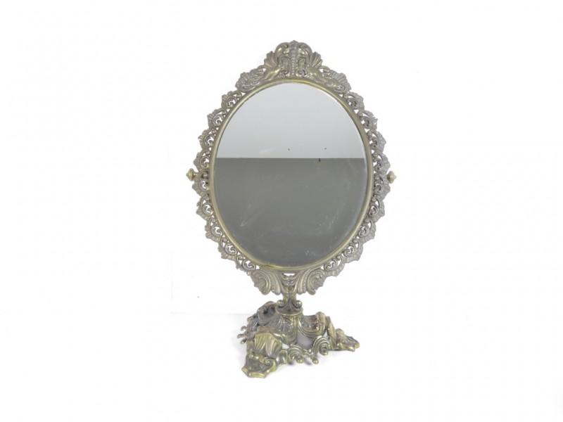 Vintage spiegel op voet (2)
