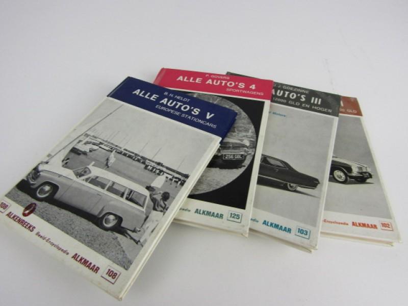 Set 4 boekjes, Alle Auto's, jaren Zestig