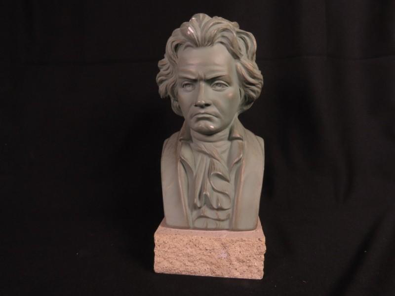 Plaasteren buste Beethoven gemerkt Guiseppe Carli