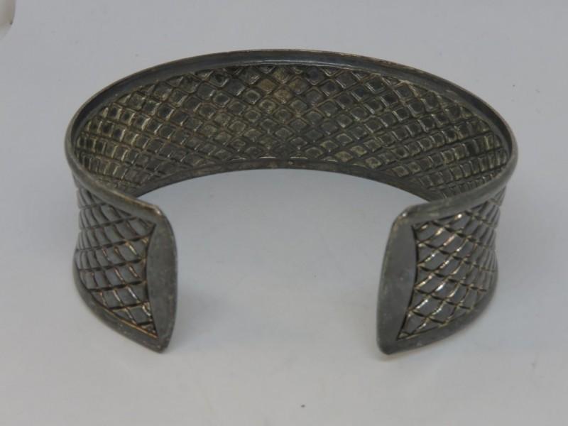 Verzilverde armband