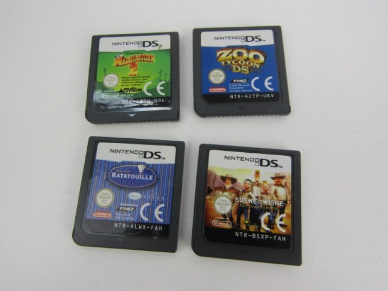 4 Nintendo DS spelletjes, thema Cartoons