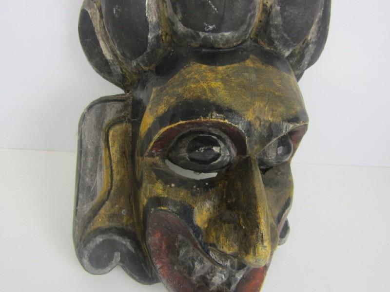 Houten Masker, Handgemaakt, Etnische Kunst