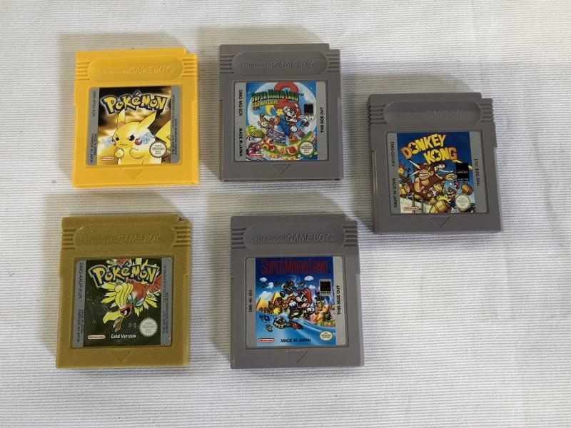5 Nintendo Game Boy spelletjes