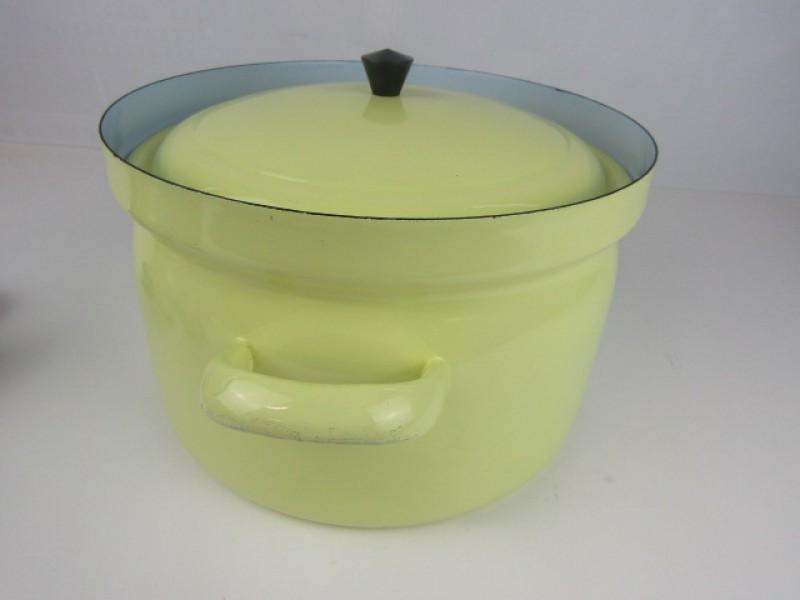 Vintage Soeppot, Geëmailleerd