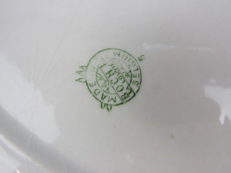 Boch La Louvière, 2 Ovalen Versierde Porseleinen Borden