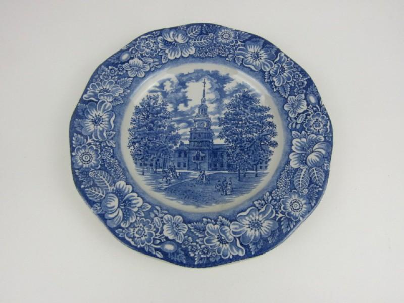 Decoratief Aardewerk Bord, Liberty Blue, Staffdshire Ironstone, Engeland