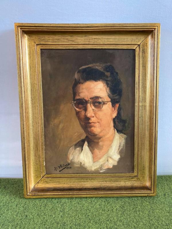 Geschilderd portret van een vrouw door Kurt Peiser