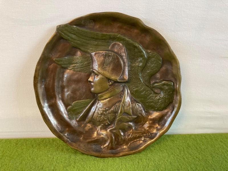Bronzen sierplaat van C. Desvergnes