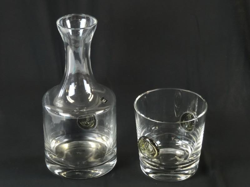'Studio Line' Rosenthal Karaf en ijsemmer in glas