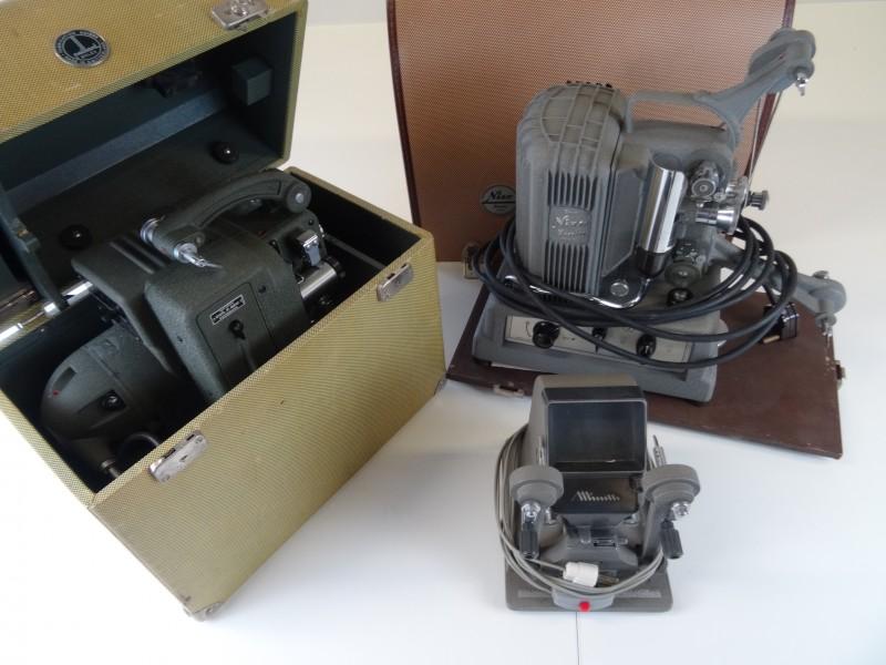 Vintage: 2 maal 8mm projectoren  + Viewer Editor 8 mm