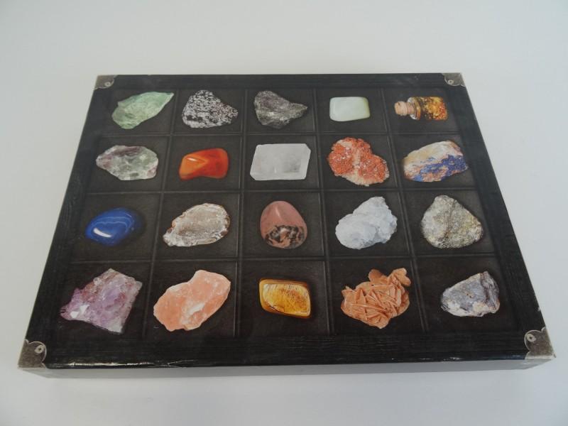 Mineraal stenen collectie