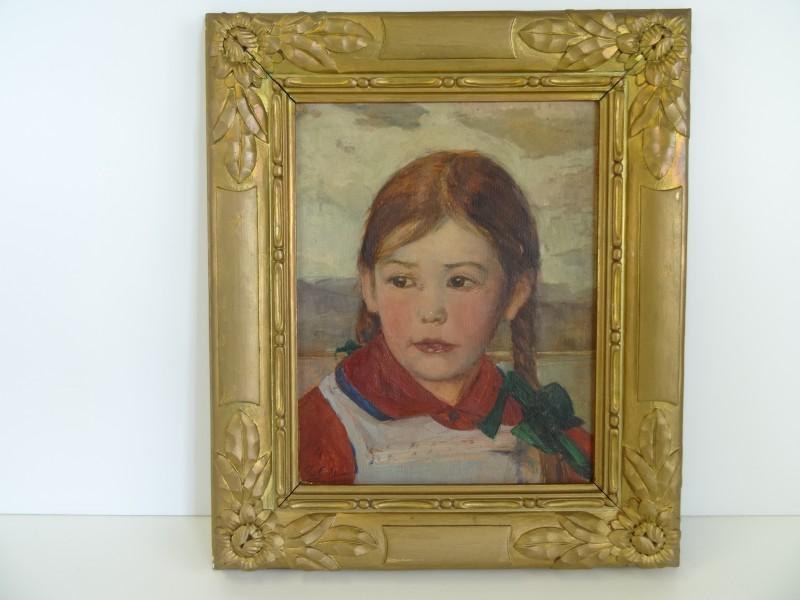 Piet Gillis: aangezicht van een meisje 1919
