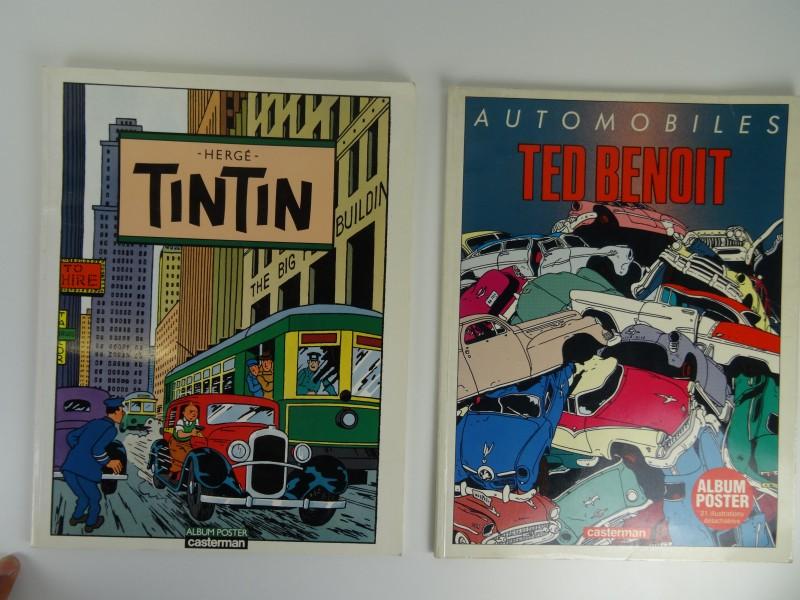 2 posteralbums: van Tintin en Ted benoit  1986