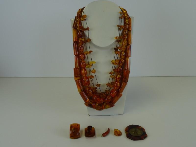 Set vintage juwelen amberlook