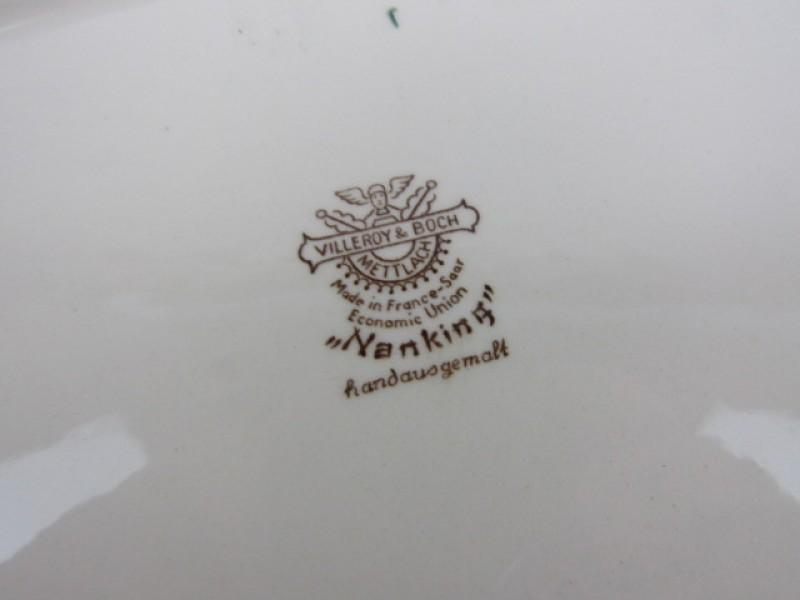 Porseleinen Schotel, Villeroy & Boch, Metllach, Nanking Original