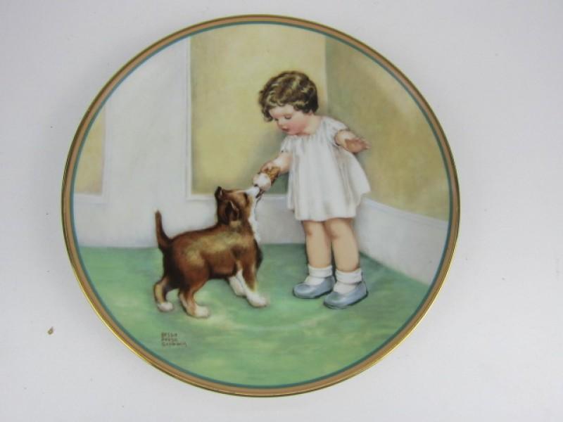 Porseleinen Bord, The Hamilton Collection, 'The Reward'