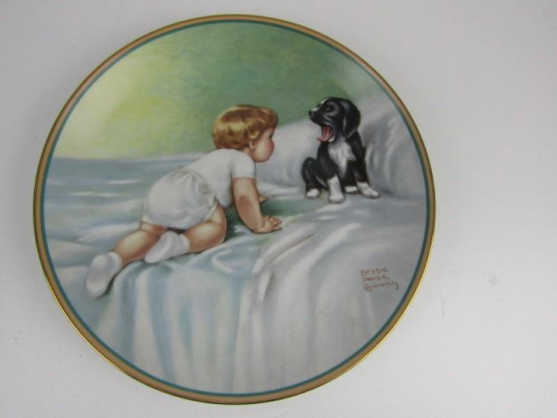 Porseleinen Bord, The Hamilton Collection, 'Who's Sleepy'