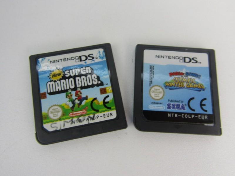 2 Nintendo DS spelletjes, thema Mario Bros