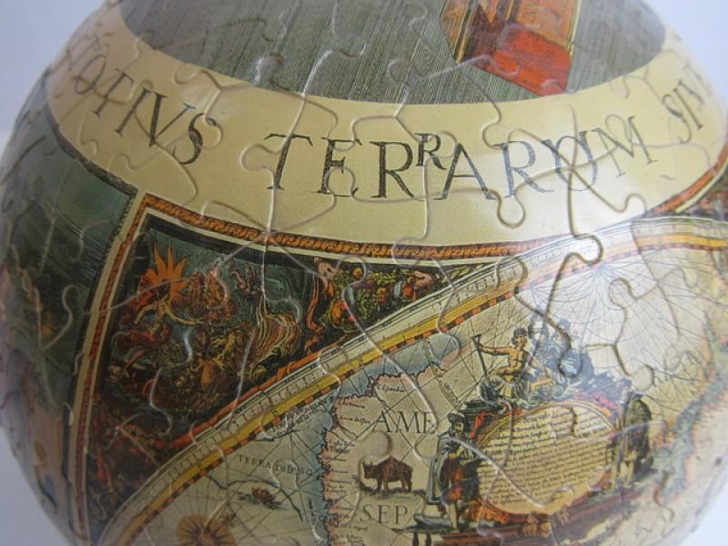 Speelgoed, Antieke Wereldbol, Nieuwe 3 D Puzzel