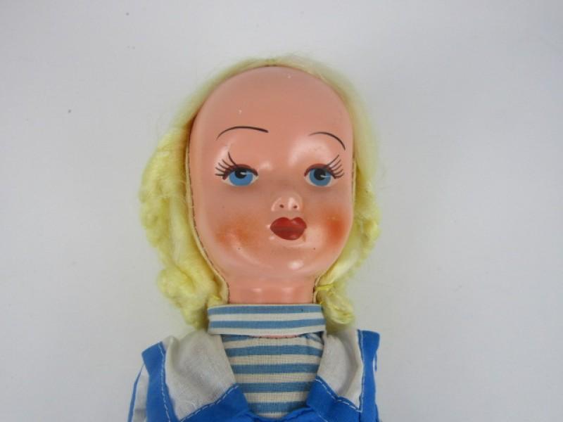 Retro Popje, Blonde Haren, Matrozenpak