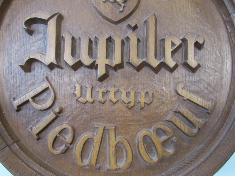Reclame Jupiler / Piedboeuf voorkant ton