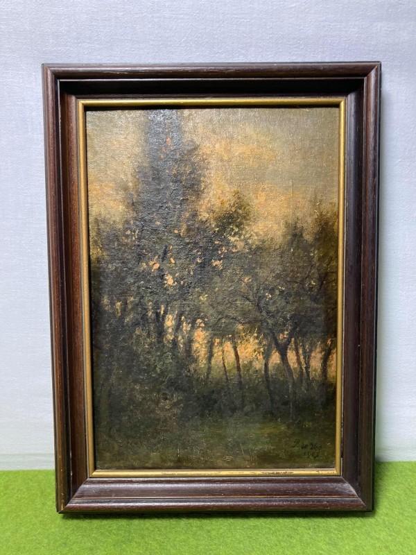 Schilderij zicht op bos door Pieter De Vos