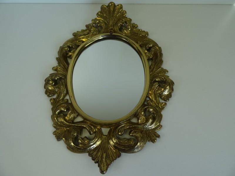 Metalen kleine barokstijl spiegel