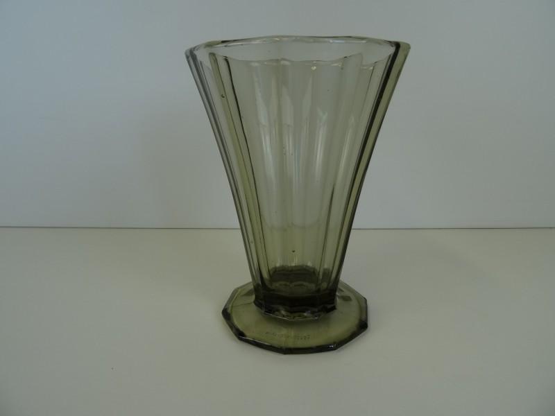 Vintage persglas vaas Czechoslovakia