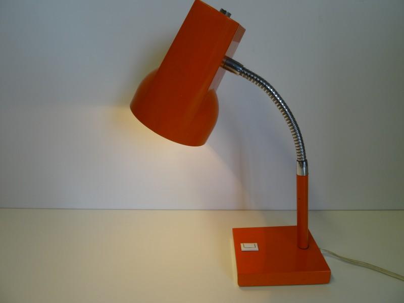 Vintage bureaulamp Orange