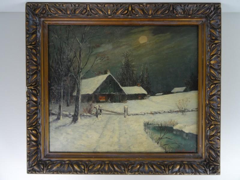 Jules Van Paemel:  winterlandschap 20e eeuw