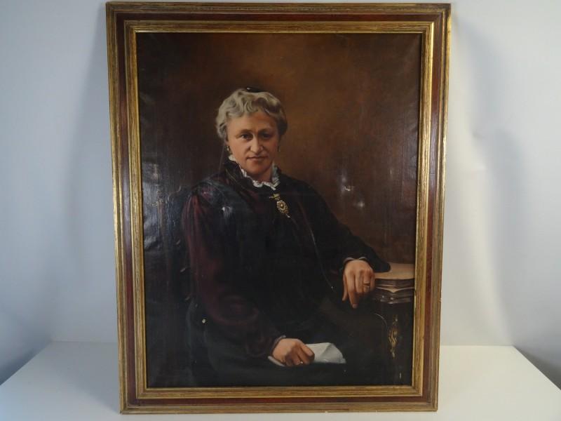 portret niet gesigneerd 19e eeuw