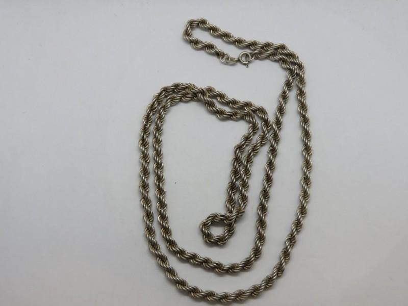 Zilveren gevlochten ketting 925