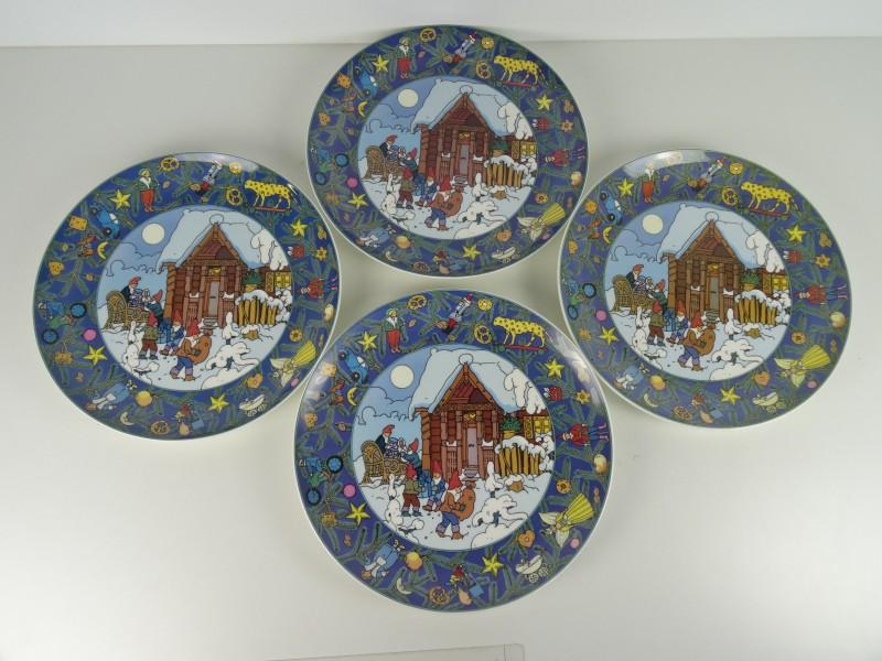 4x Kerstborden Villeroy & Boch