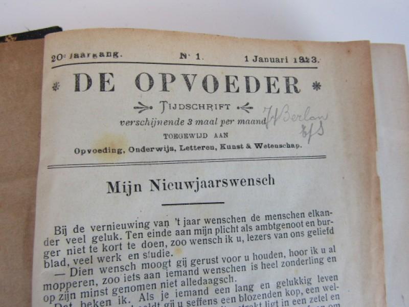 """Boek, Jaargang """"De Opvoeder' 1923"""