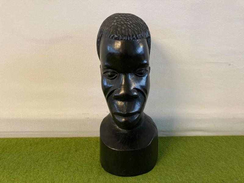 Zwaar houten Afrikaans beeld