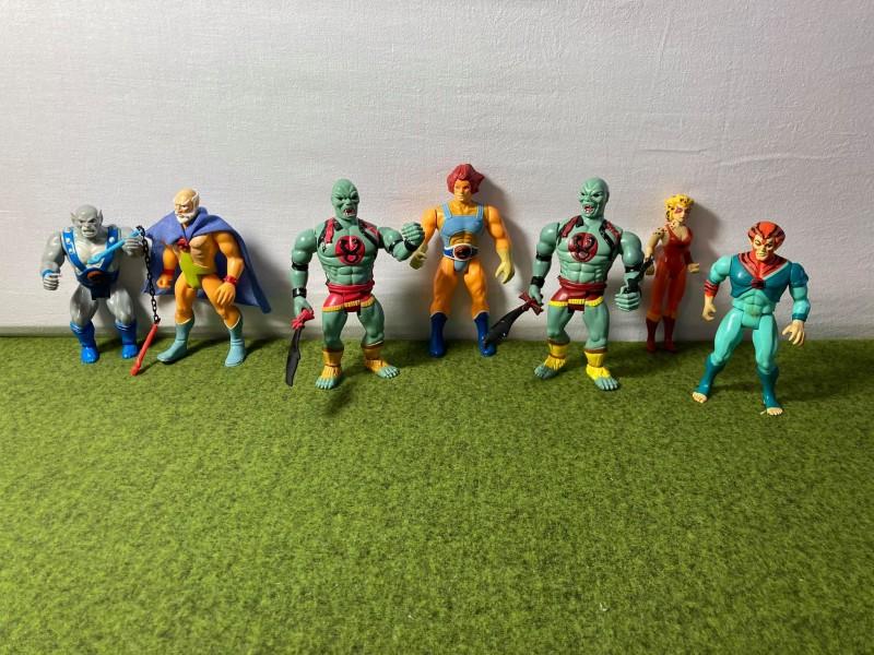Lot van 7 Thundercats speelgoedfiguren